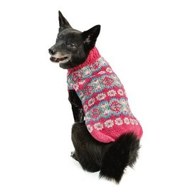 Chilly Dog Chilly Dog Rose Alpaca Fairisle Small