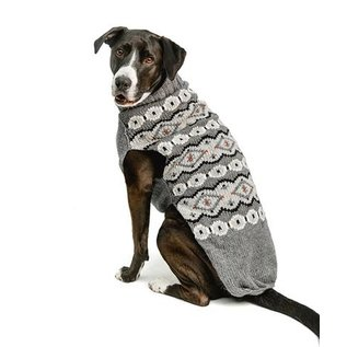 Chilly Dog Chilly Dog Silver Alpaca Fairisle Small