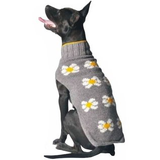 Chilly Dog Chilly Dog Sweater Daisy Grey XS