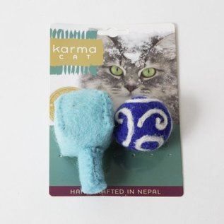 Distinctly Himalayan Distinctly Himalayan Holiday Dreidel & Ball Cat Toy 2 pack