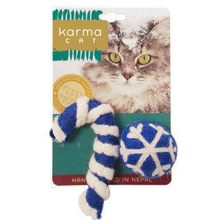 Distinctly Himalayan Distinctly Himalayan  Cat Toy Holiday Ball & Cane