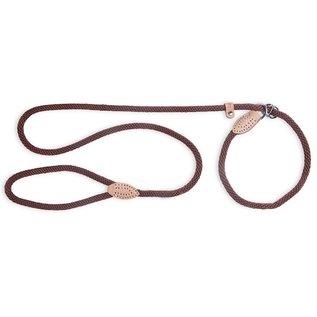 FabDog Fabdog Mountain Rope Slip Lead Brown Medium