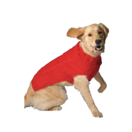 Chilly Dog Chilly Dog Red Cable Knit Sweater XL