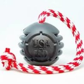 Soda Pup SodaPup USA-K9 Magnum Stars & Stripes Reward Ball Large Black