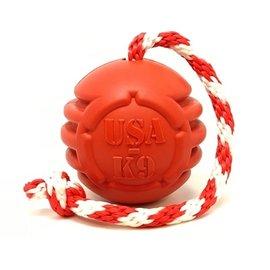 Soda Pup SodaPup USA-K9 Stars & Stripes Reward Ball Large Red