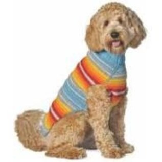 Chilly Dog Chilly Dog Sweater Turquoise Serape LG