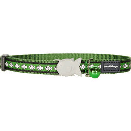 Red Dingo Red Dingo Cat Collar Reflective Green Fish