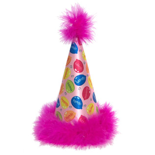 Huxley & Kent H&K Party Hat Party Time Pink LG