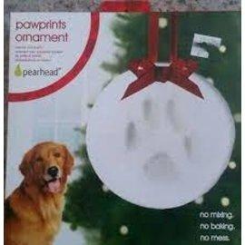 Pearhead Pawprints Ornament
