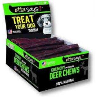 """Etta Says! Etta Says! Dog  Crunchy Deer Chew  7"""""""