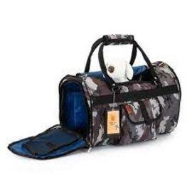 Prefer Pets Prefer Pets Hideaway Backpack Pet Carrier Grey Camouflage