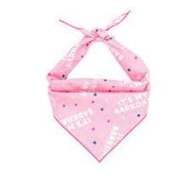 Hunter K9 Paisley Paw Designs Barkday Pink Bandana Md