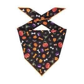 Hunter K9 Paisley Paw Designs Black Halloween Bandana Md