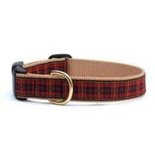 Up Country Up Country Dog Collar Red Plaid Size 12