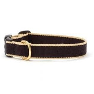 Up Country Up Country Dog Collar Black/Tan Bamboo Size 14