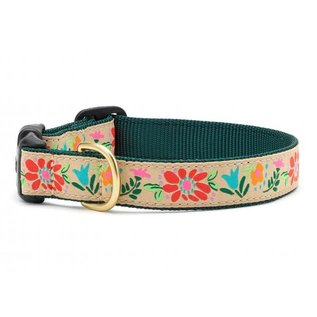 Up Country Up Country Dog Collar Narrow Tapestry Floral MD