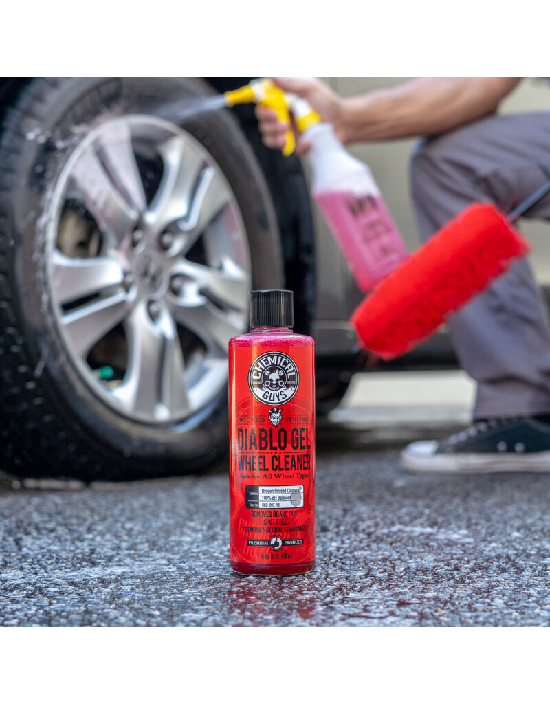 Chemical Guys CLD_997_16 Diablo Gel Wheel & Rim Cleaner Concentrated Suspension Rim & Wheel Cleaner Gel Safe For All Wheels (16oz)