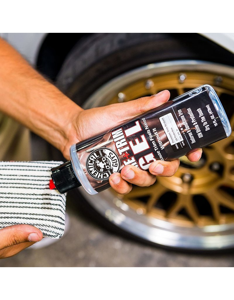 Chemical Guys TVD_108_16 Gel Black Forever Trim & Tire,Shine & Protect That Keeps Black Parts Black For Months (16oz)