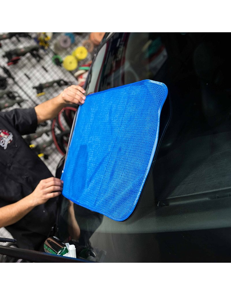"Chemical Guys MIC708 Ultimate Glass And Window Waffle Weave Premium Microfiber Towel, Blue 24"" X 16"""