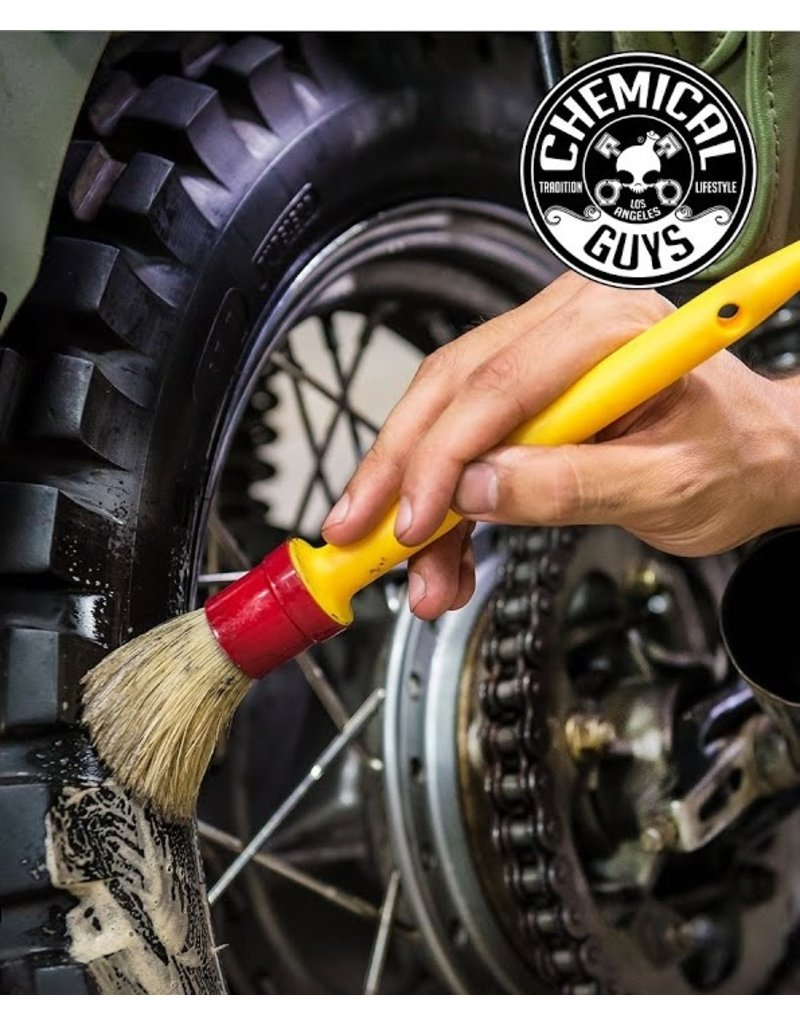"""Chemical Guys ACCS91 The Best Detailing Brush-1"""" Boars Hair Round Soft Detailing Brush"""