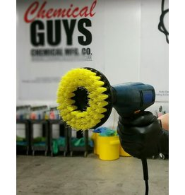 Chemical Guys ACC_201_BRUSH_MD Carpet Brush w/Drill Attachment - All Surface/Purpose Medium Duty (Yellow)