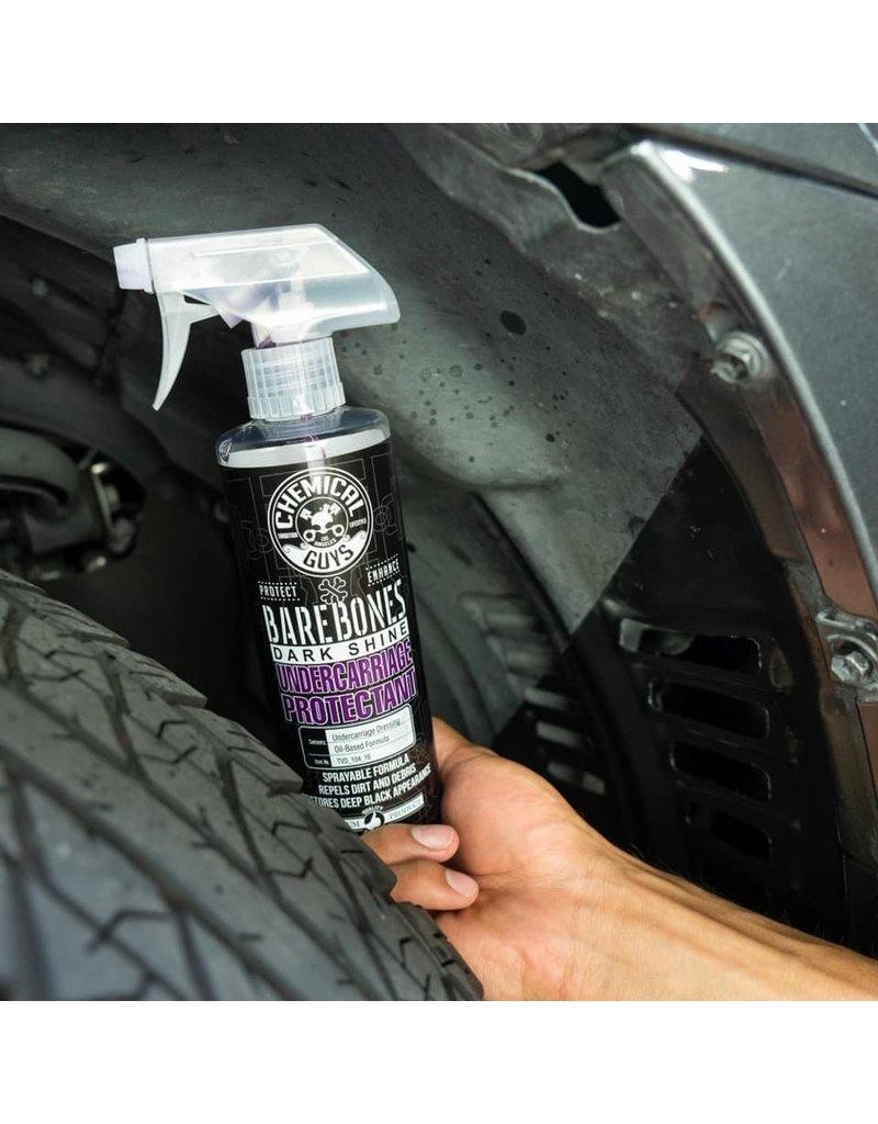 Chemical Guys TVD_104_16 Bare Bones Undercarriage Spray-Dark Shine Trim,Fender/Wheel Wells Spray (16 oz.)