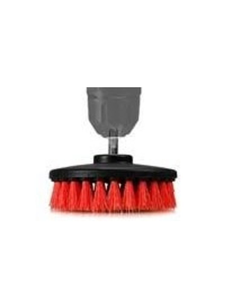 Chemical Guys ACC_201_BRUSH_HD Carpet Brush With Drill Attachment All Surface All Purpose Heavy Duty Brush (Red)