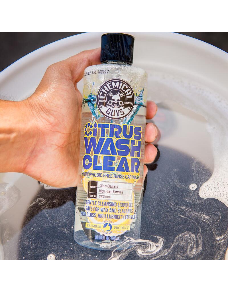 Chemical Guys CWS30316 Citrus Wash Clear Hydrophobic Free Rinse Car Wash (16 oz)