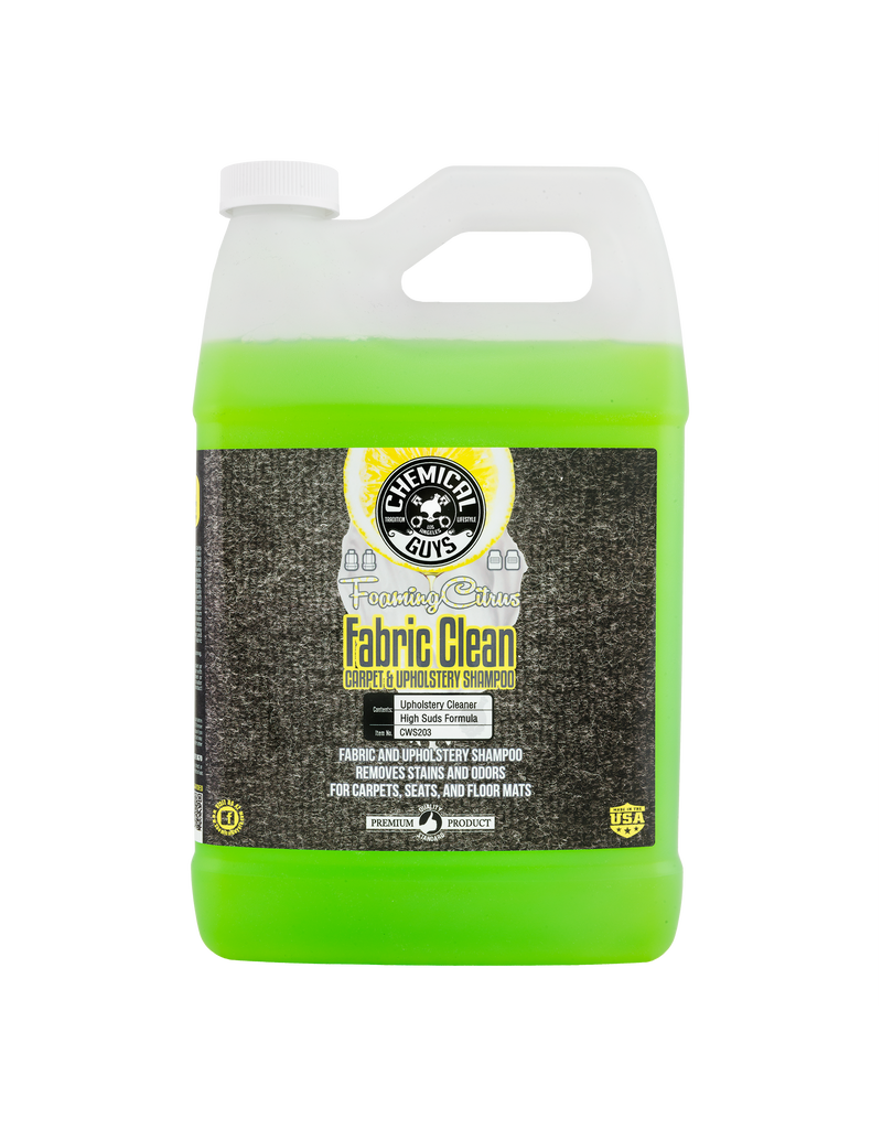 Chemical Guys CWS203 Foaming Citrus Fabric Clean Carpet & Upholstery Shampoo (1 Gal)