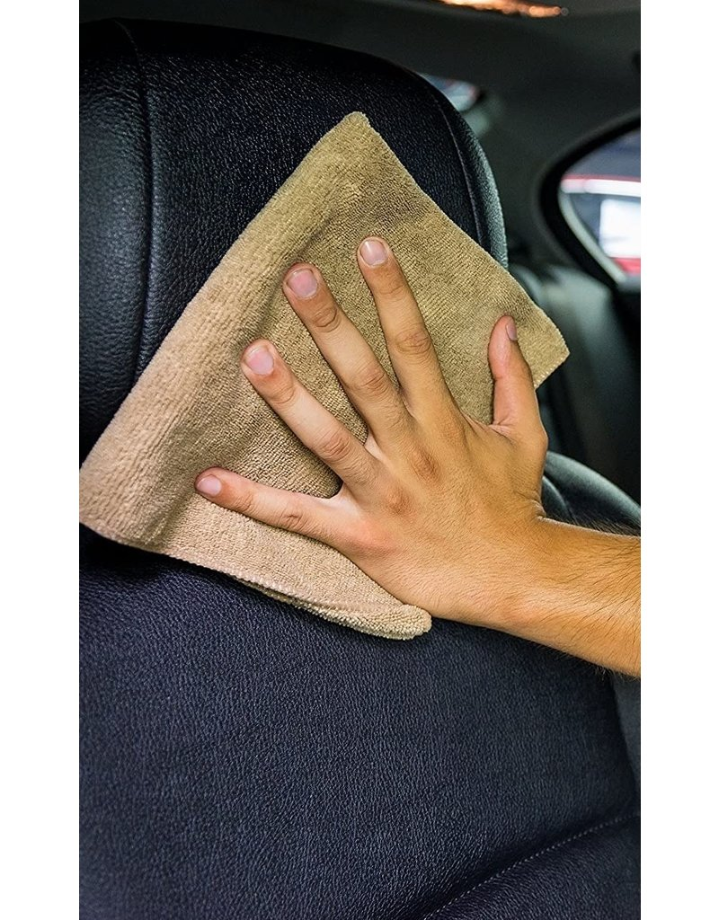 "Chemical Guys MIC36203 Workhorse Tan Professional Grade Microfiber Towel, 16"" X 24"" (Leather & Vinyl)(3-Pack)"