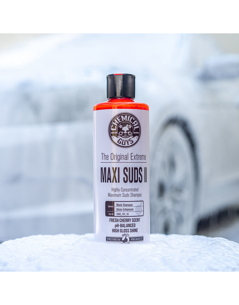 Chemical Guys CWS_101_16 Maxi-Suds II ~Super Suds Shampoo-Superior Surface Shampoo (16 oz)
