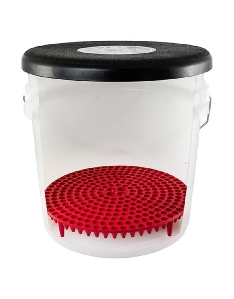Chemical Guys DIRTTRAP02 Cyclone Dirt Trap-Car Wash Bucket Insert, Red Color, (1 Unit)