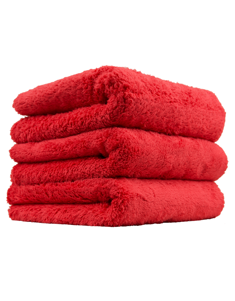 "Chemical Guys MIC35103 Happy Ending Edgeless Microfiber Towel, Red 16""X16"" (3 Pack)"