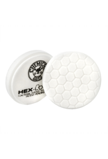 "Hex-Logic BUFX_104HEX4 4"" Hex-Logic Pad - White Medium Light Polishing Pad (4""Inch)"