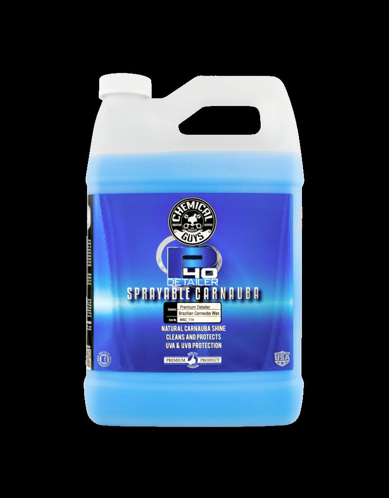 Chemical Guys WAC_114 P40-Detailer+Spray White Carnauba Quick Detailer UV Protectant (1 Gal)