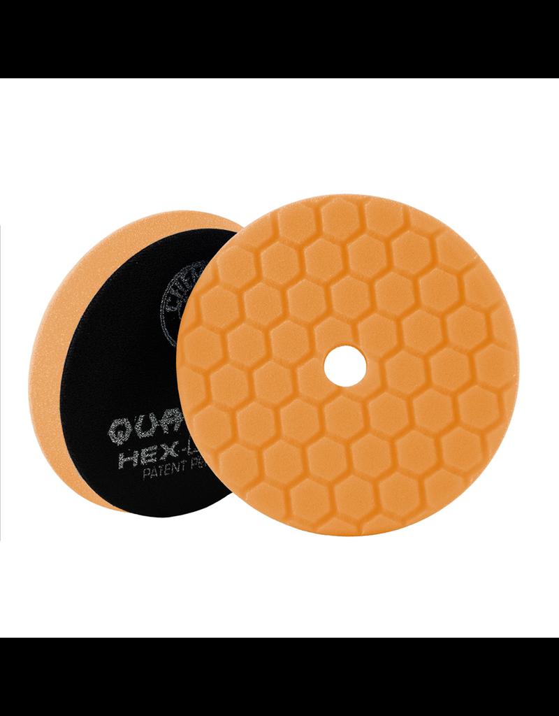 "Hex-Logic BUFX112HEX5 Hex-Logic Quantum Buffing Pad -Orange -5.5"""