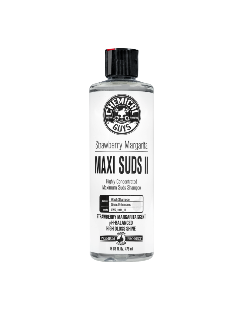 Chemical Guys CWS_1011_16 Maxi-Suds II: Super Suds Shampoo- Strawberry Clear - Superior Surface Shampoo (16 oz)