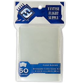 Fantasy Flight Standard Card Sleeves, Clear Fantasy Flight (50)