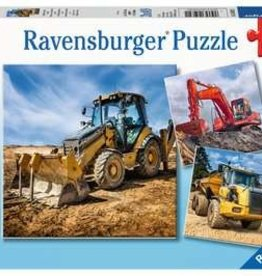 Ravensburger Digger at work! 3x49pc Ravensburger Jigsaw Puzzle