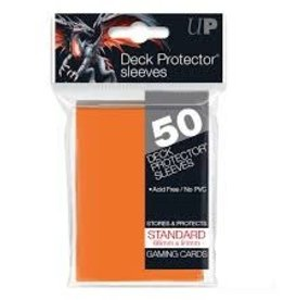 Ultra Pro Deck Protector Pack: Orange Solid 50ct (DISPLAY 12) 82673