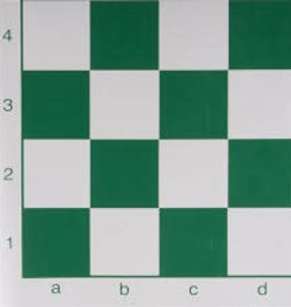 """world Wise imports Green/White Thick Chess Mat, 20"""", 2.25"""" sq"""