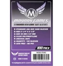 Mayday Mayday Standard USA Game Size Sleeves Dark Purple