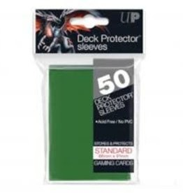 Ultra Pro Deck Protector Pack: Green Solid 50ct (DISPLAY 12)