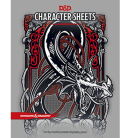Wizards of the Coast Dungeons and Dragons RPG: Character Sheets