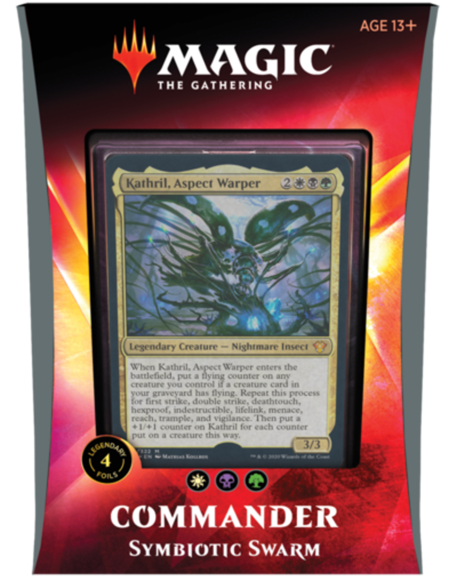 Magic: The Gathering CCG MAGIC THE GATHERING: IKORIA: LAIR OF BEHEMOTHS COMMANDER Deck: Symbiotic Swarm