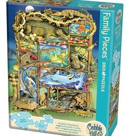 Cobble Hill Reptiles and Amphibians 350pc Family, 3 piece sizes. (Cobble Hill)