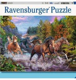 Ravensburger Rushing River Horses 100pc Ravensburger Puzzle