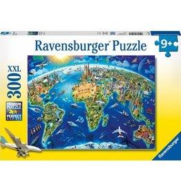 Ravensburger World Landmarks Map 300pc Ravensburger Puzzle