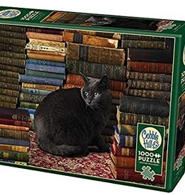 Cobble Hill Library Cat 1000pc Cobble Hill Jigsaw Puzzle