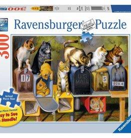 Ravensburger Cat's Got Mail 300pc Large Piece Ravensburger Jigsaw Puzzle